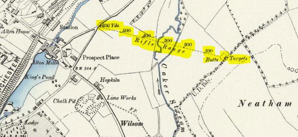 Outdoor rifle range Wilsom area of Alton, Hampshire