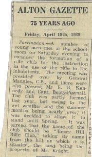 Alton Gazette article
